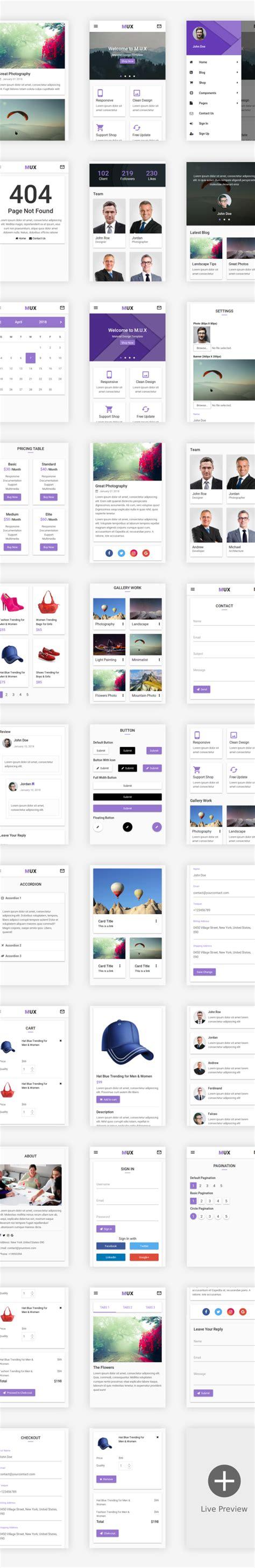 home design web app mux material design web app ui kit mobile template by