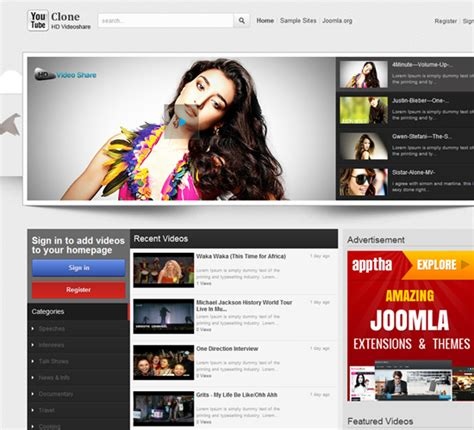 youtube gallery themes joomla joomla apptha part 4