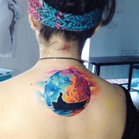 watercolor moon tattoo designs 44 mystical moon designs and meanings tattoobloq