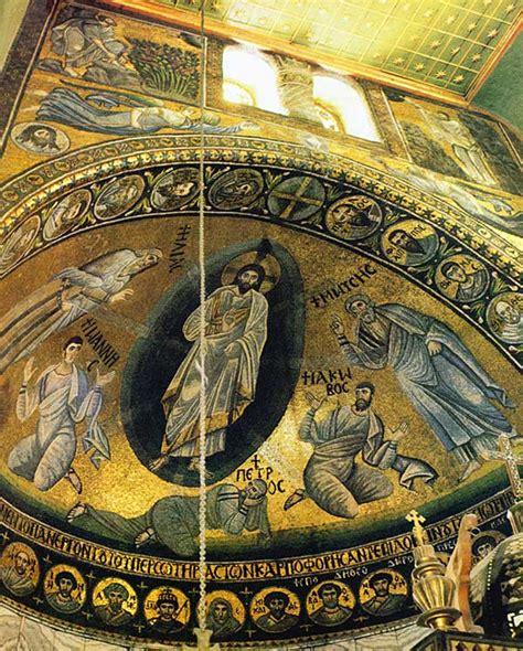 church of the virgin transfiguration of jesus monastery of st catherine basilica apse mosaic the