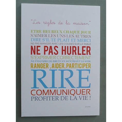 Affiche Les Regles De La Maison 2923 by Affiche Les R 232 Gles De La Maison