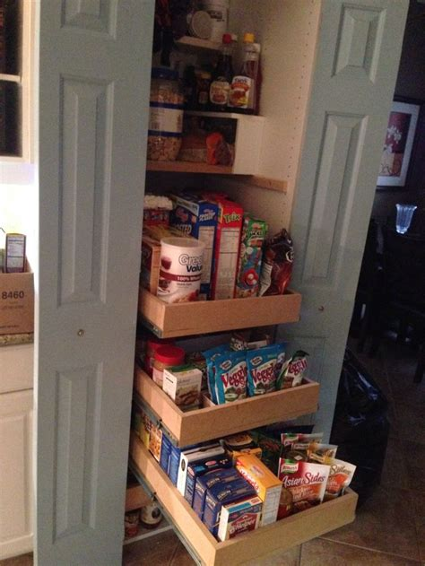 pantry pull out shelves bi fold doors made into