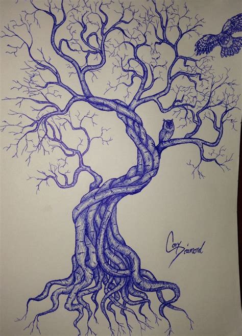 owl tree tattoo design 1 ink sketches pinterest