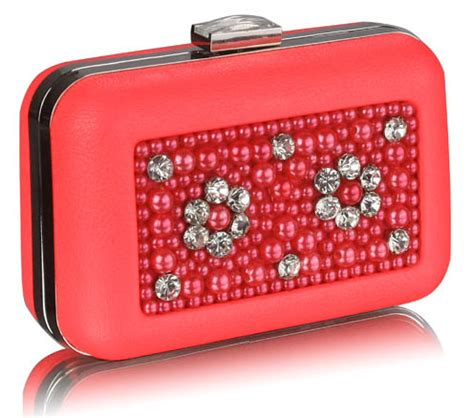 beaded box clutch bag wholesale coral beaded box clutch bag with decoration