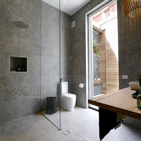 the block bathroom tiles shop their looks the first block bathroom reveals the