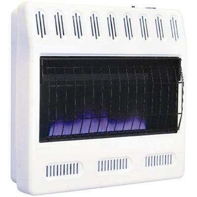 blue flame vent free wall heater 30,000 btu dual fuel