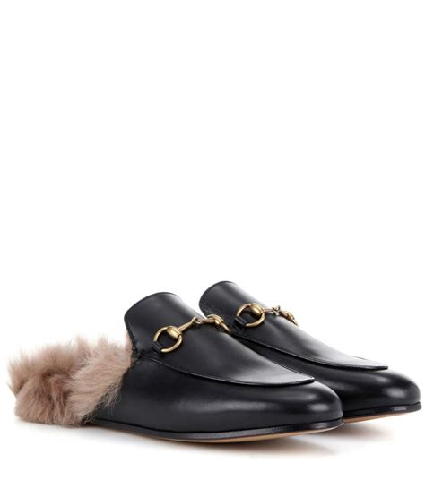 gucci house shoes princetown fur lined leather slippers gucci mytheresa