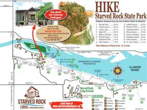 Starved Rock State Park Map by Chasing Waterfalls In Illinois Starved Rock State Park