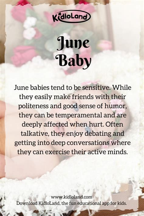 born june meaning what does your baby s birth month mean kidloland