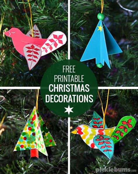 free printable christmas decorations free printable decorations dove and tree picklebums