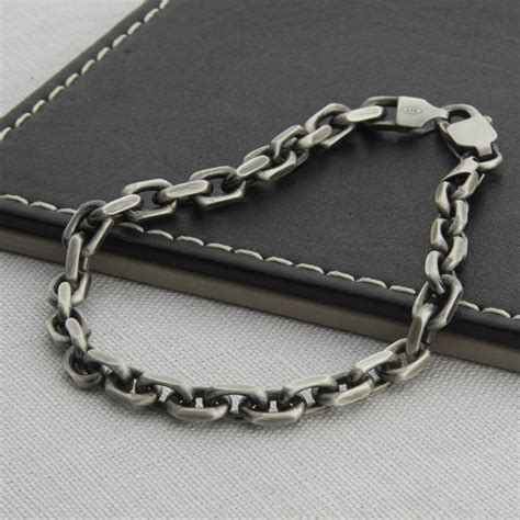 bracelet chains for jewelry s sterling silver anchor chain bracelet by
