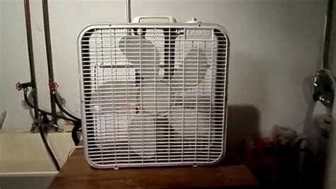 lasko 20 box fan 1996 97 lasko 3723 20 box fan after repairs