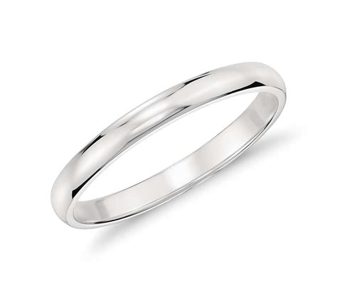 classic wedding ring in platinum 2mm blue nile