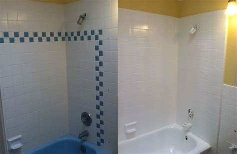 Shower Tile Resurfacing by Wall Tile Refinishing Images