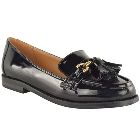 casual leather loafers womens flat loafers patent faux leather smart