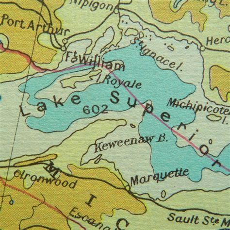lake superior map map of lake superior showing port arthur and fort william maps mapping