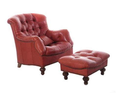 thomasville leather chair and ottoman thomasville leather easy chair with ottoman 2pcs