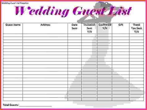 wedding planning guest list template wedding checklist template printable wedding checklist 624