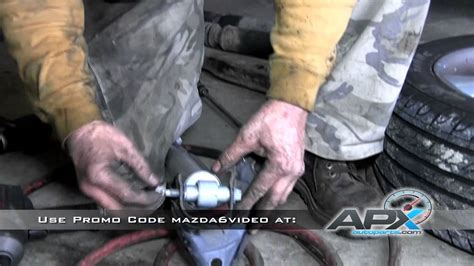 replacement of rear shocks on a 2003 2008 mazda 6 sensen