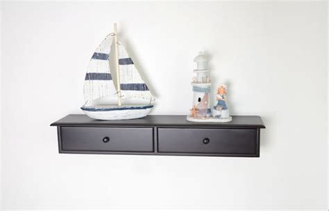 wall mount cabinet wall shelf with two drawers modern