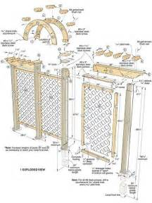 Trellis Design Plans by Wooden Arch Trellis Plans Woodworking Projects Amp Plans