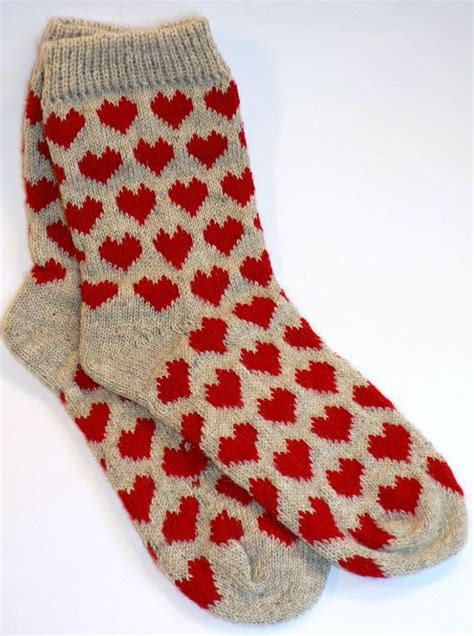 knitting socks wool knitted socks patterned size 38 39 free shipping