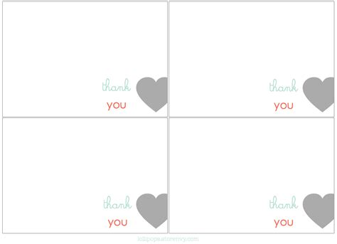 card free printable thank you card template thank you cards free print for