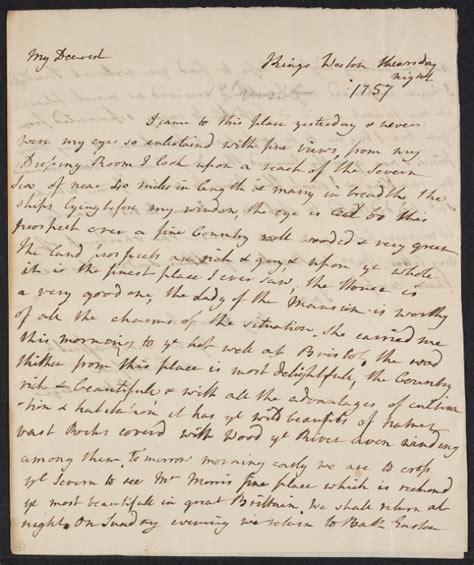 Gentleman S Agreement Letter A Letter From Elizabeth Montagu To Edward 1757 Letter Greeting Gentlemen Letter Sle