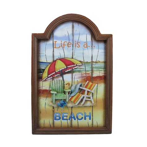 beach home decor wholesale buy wooden life is a beach wall plaque 18 inch wholesale