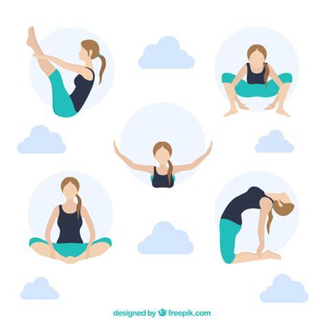 imagenes de posturas de yoga gratis las posturas de yoga descargar vectores gratis