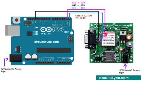 code arduino gsm gsm modem interfacing with arduino circuits4you com
