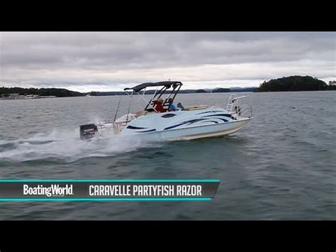 caravelle razor boats reviews caravelle razor 258 party fish boat test youtube