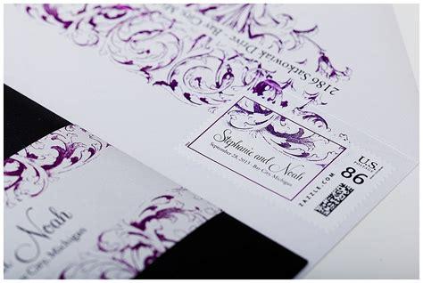 wedding invitation lovely purple wedding invitations