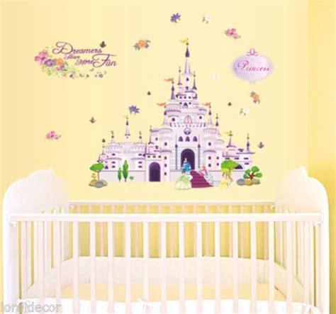 disney princess bedroom stickers pegatinas infantiles disney vinilo infantil castillo