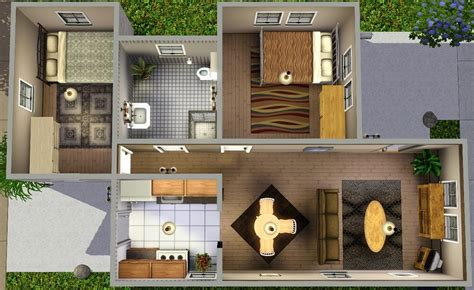 starter house plans mod the sims quot ledomus quot starter home plan 3 no cc