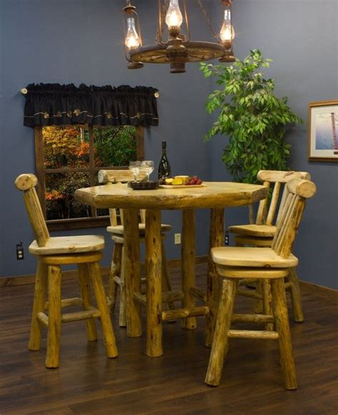 Log Pub Table And Stools by 1000 Images About Rustic Dining And Bar Furniture And