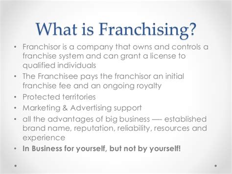 exploring franchise and licensing opportunities for your