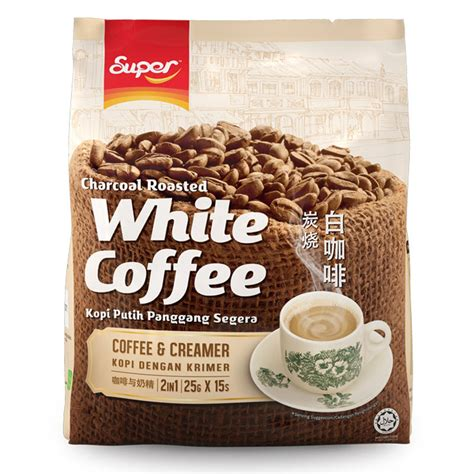 White Coffee charcoal roasted 2 in 1 white coffee no sugar added white coffee market malaysia