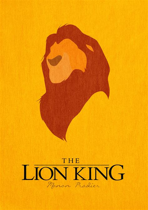 printable lion king poster the lion king minimalist poster by manoulol on deviantart