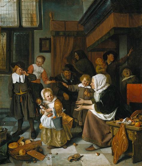 the feast of the file jan steen the feast of st nicholas wga21722 jpg wikimedia commons