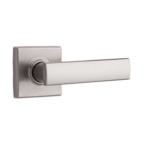 Weiser Interior Door Handles Shop Kwikset Signature Vedani Satin Nickel Passage Door Lever At Lowes