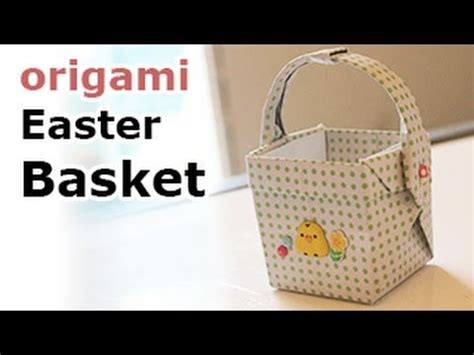 Origami Basket Easy - origami easter basket