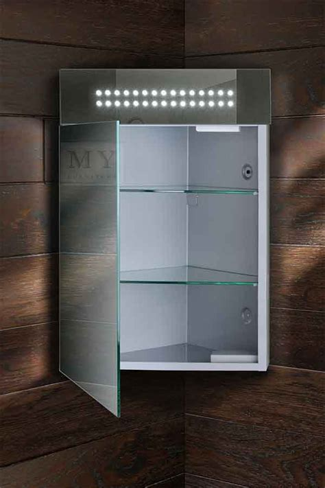 led illuminated bathroom mirror cabinet panoramic illuminated led bathroom mirror corner cabinet