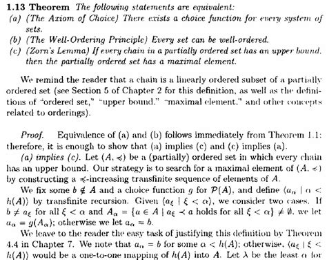elementary set theory when is elementary set theory proof explanation zorn s lemma