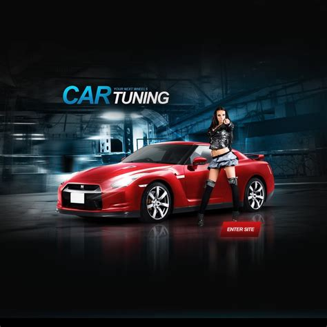 Template Tuning car tuning flash template 32053