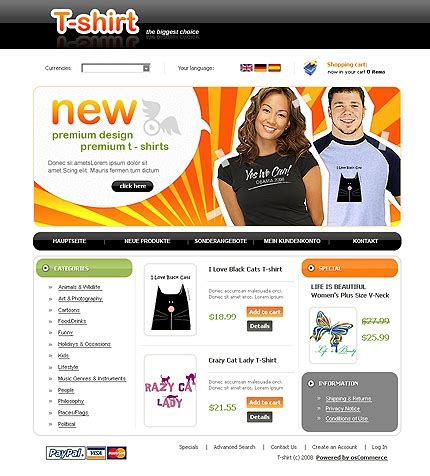 jolie blogs oscommerce templates free