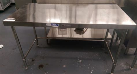 used stainless steel benches used simply stainless 1500mm bench with leg brace