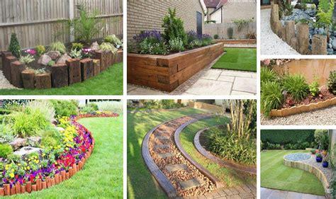 wooden garden edging ideas 17 fascinating wooden garden edging ideas you must see