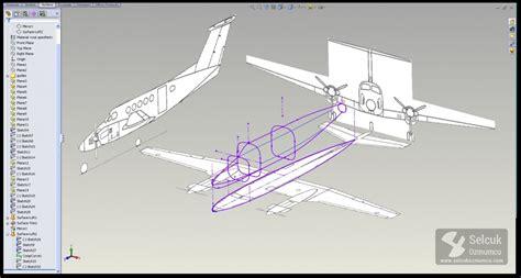 solidworks tutorial airplane b 200 scale aircraft solidworks selcuk ozmumcu