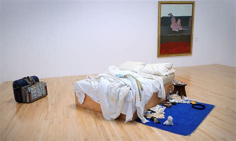 on my bed tracey emin s messy bed goes on display at tate for first